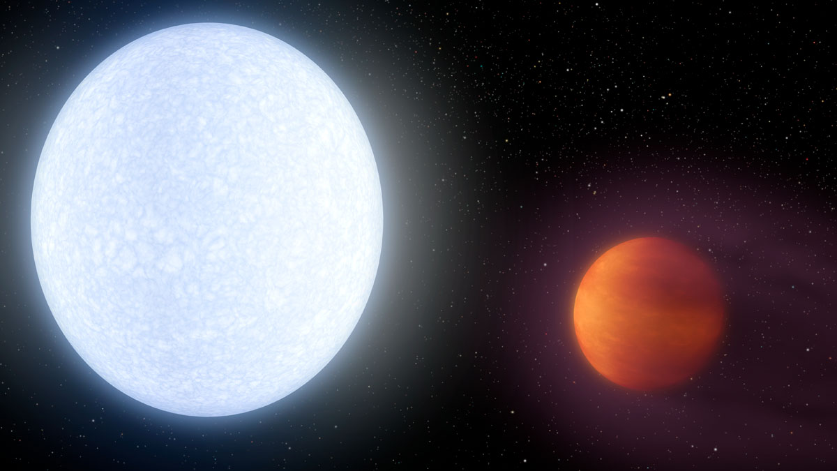 Artist rendering of possible Planet-Star system